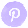 Lilac watercolor pinterest social media icons