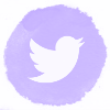 Lilac watercolor twitter social media icons